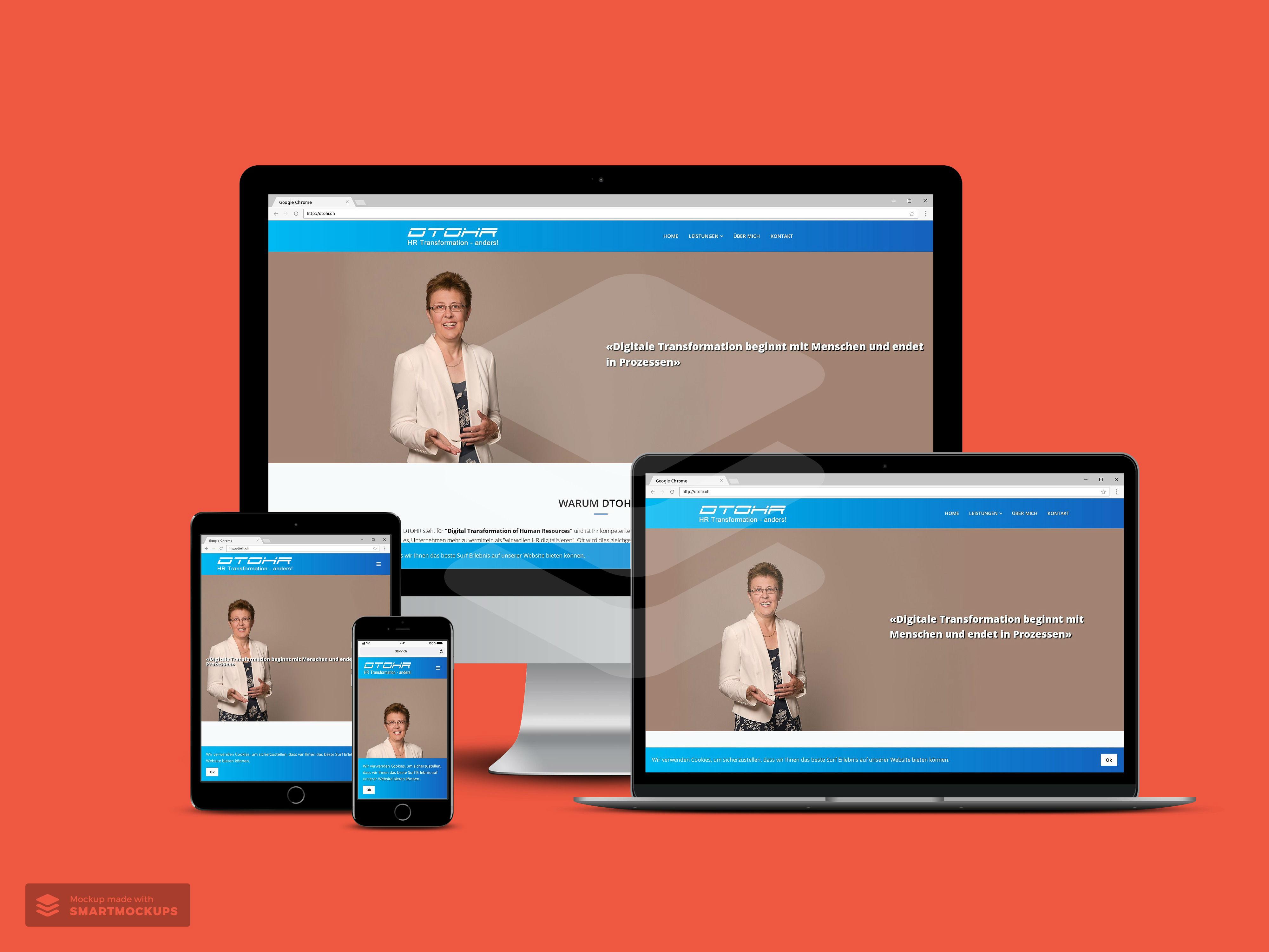 Webdesign für DTOHR